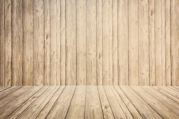 Oude houten planken met houten vloer achtergrond foto premium