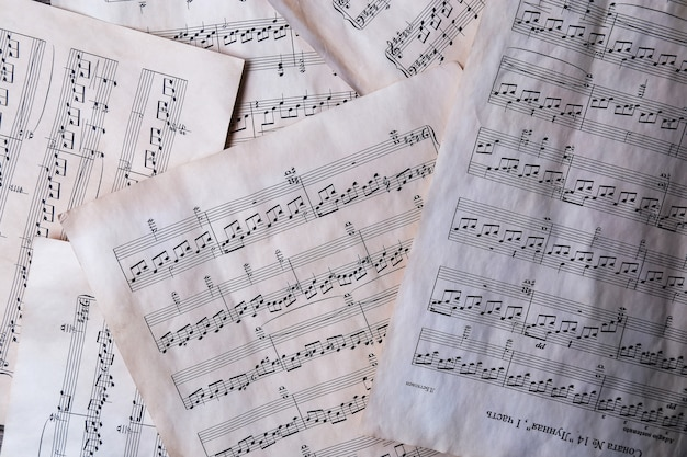 Oude muzieknoten Gratis Foto