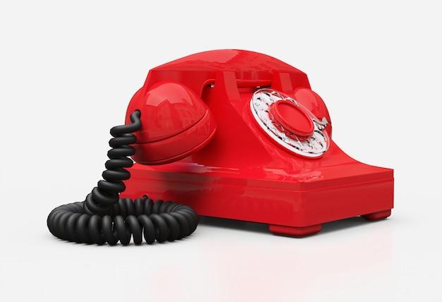 Oude rode telefoon Premium Foto