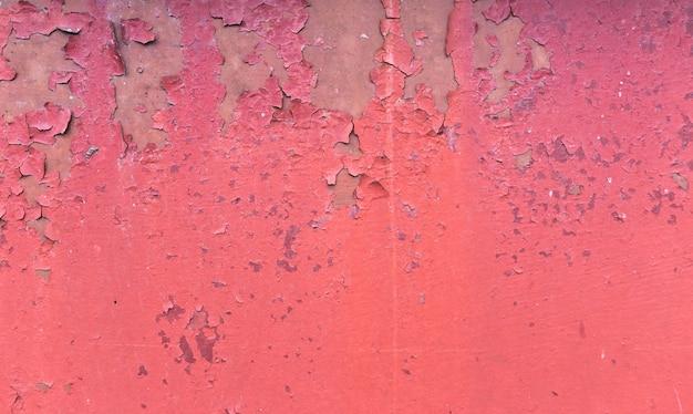 Oude roestige geschilderde metaalachtergrond. rode peeling verf textuur. Premium Foto