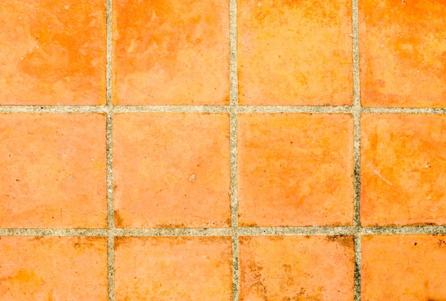 Oude tegels vierkante klei oranje vloer foto premium download
