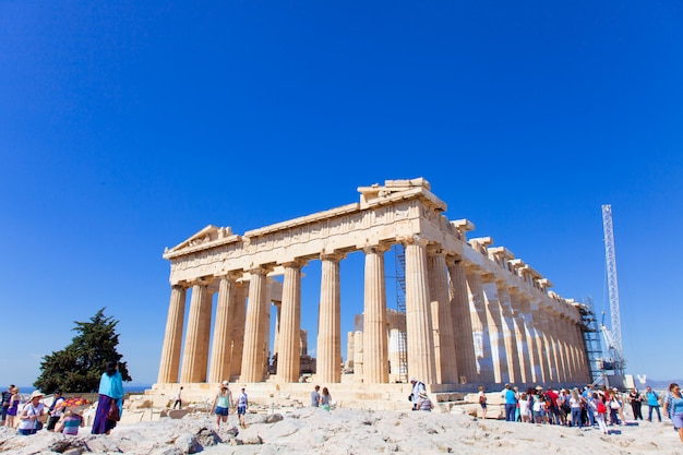 Oude tempel in athene Premium Foto