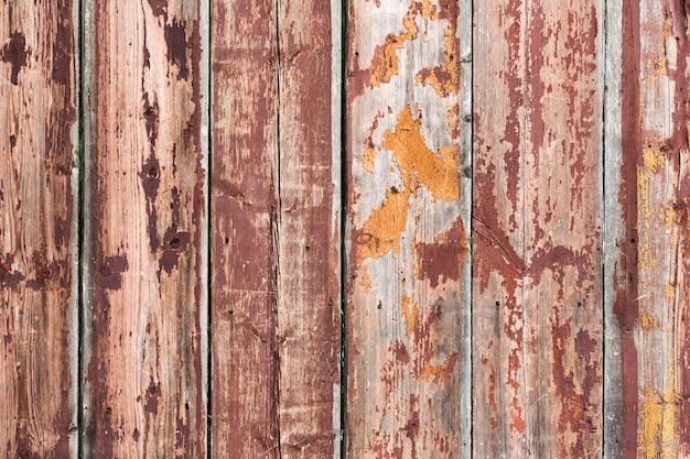 Oude uitstekende roestige bruine houten achtergrond Gratis Foto