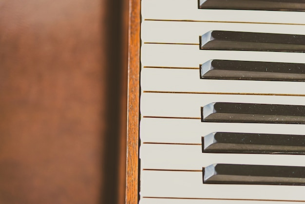Oude vintage pianotoetsen Gratis Foto