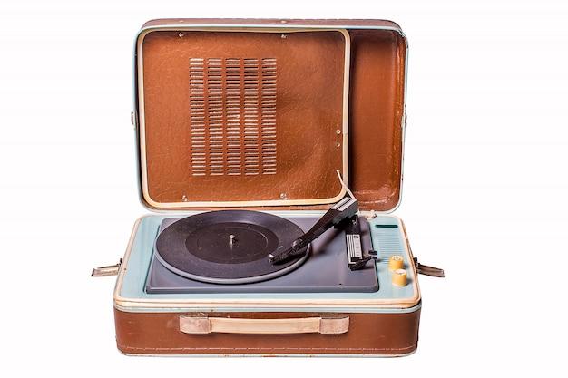 Oude vinylspeler Premium Foto