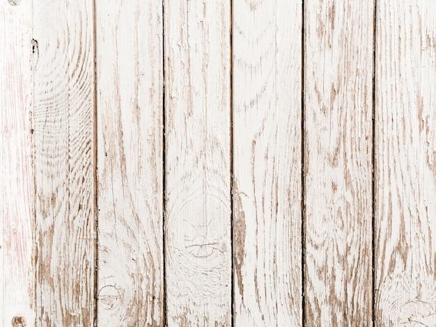 Oude witte geschilderde houten plankachtergrond Gratis Foto