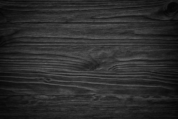Oude zwarte houten plank close-up Premium Foto