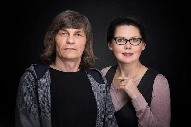 Oudere man en vrouw Premium Foto