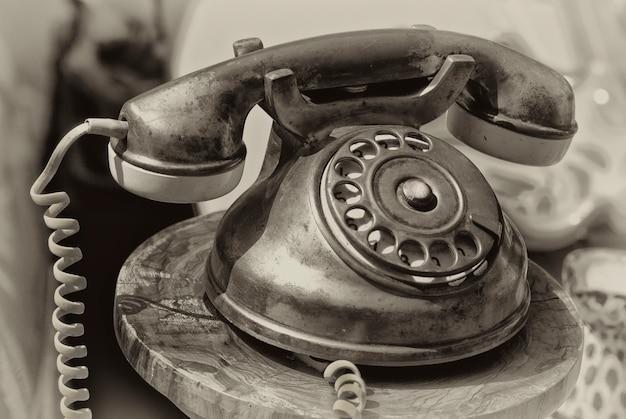 Ouderwetse telefoon Premium Foto