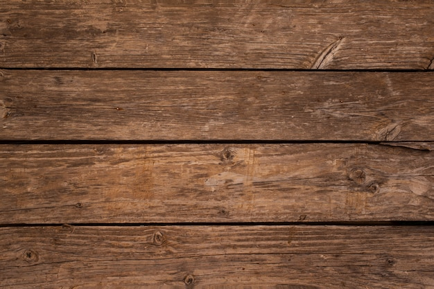 Overhead van houten plankenachtergrond met exemplaarruimte Gratis Foto