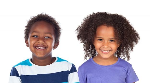 Paar afro-amerikaanse kinderen Premium Foto