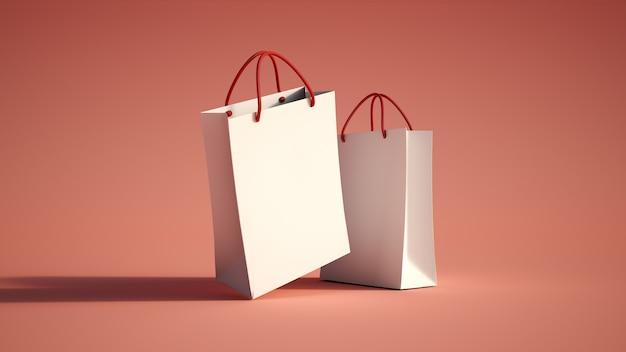 Paar boodschappentassen rood Premium Foto
