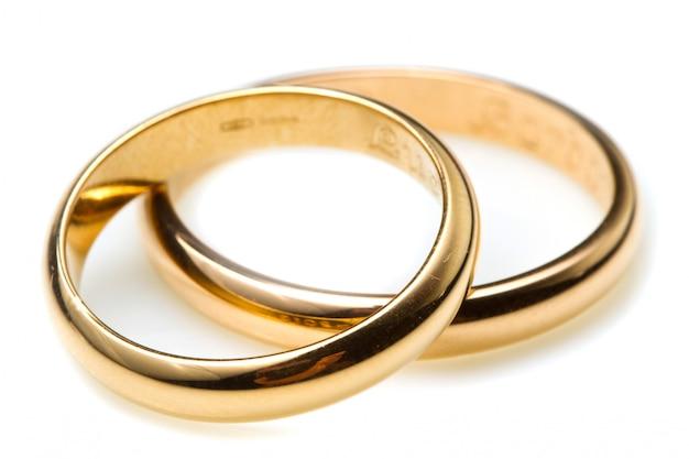 Paar trouwringen Premium Foto