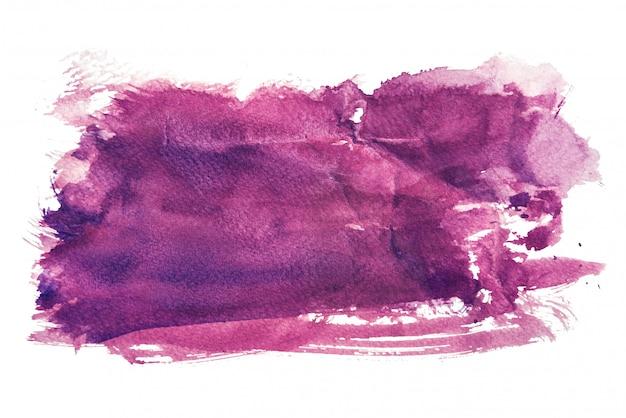 Paarse aquarel geïsoleerd op een witte achtergrond, hand schilderen op verfrommeld papier Premium Foto