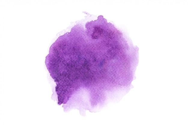 Paarse aquarel vlek met kleur tinten verf achtergrond Premium Foto