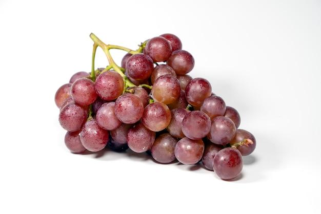 Paarse Druiven Geisoleerd Premium Foto