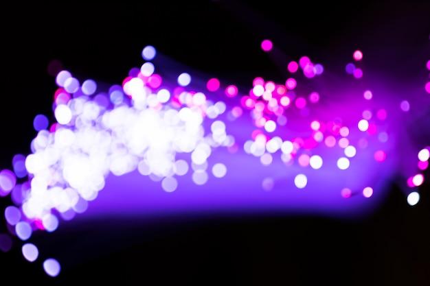 Paarse wazig optische vezel lichten Gratis Foto