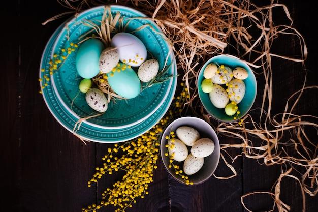 Paasvakantie eieren Premium Foto
