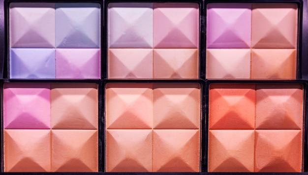 Palet van decoratieve cosmetica, close-up. Premium Foto
