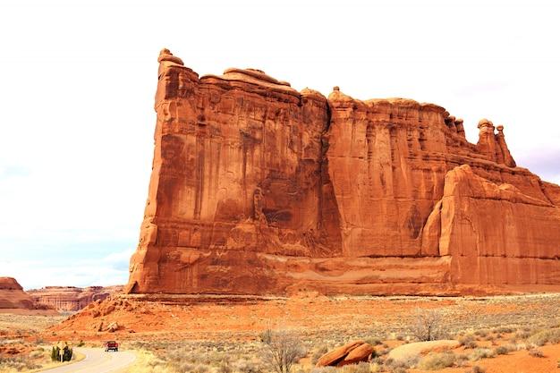 Panoramisch zicht op arches national park. moab, utah, Premium Foto