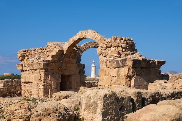 Paphos archeologisch park in kato, pafos, cyprus Premium Foto