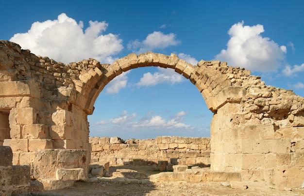 Paphos archeologisch park in kato pafos in cyprus Premium Foto