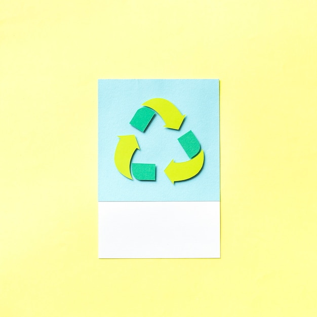 Papier ambachtelijke kunst van recycle pictogram Gratis Foto