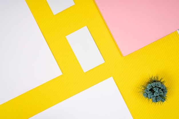 Papier textuur kaart mock up Premium Foto