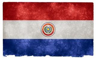 Paraguay grunge vlag gedragen Gratis Foto