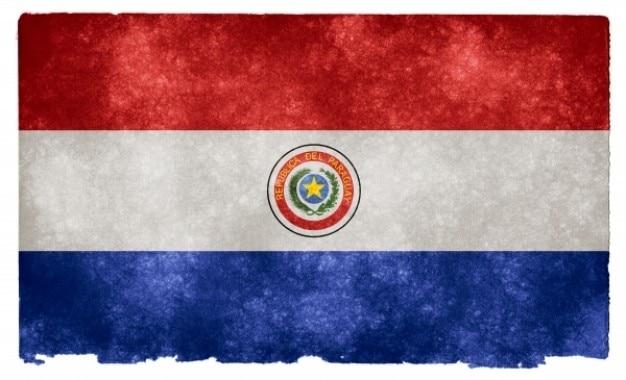 Paraguay grunge vlag Gratis Foto