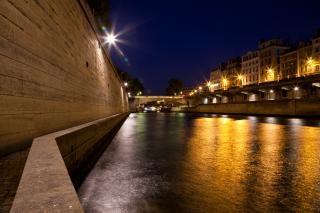 Paris sur seine schemering Gratis Foto