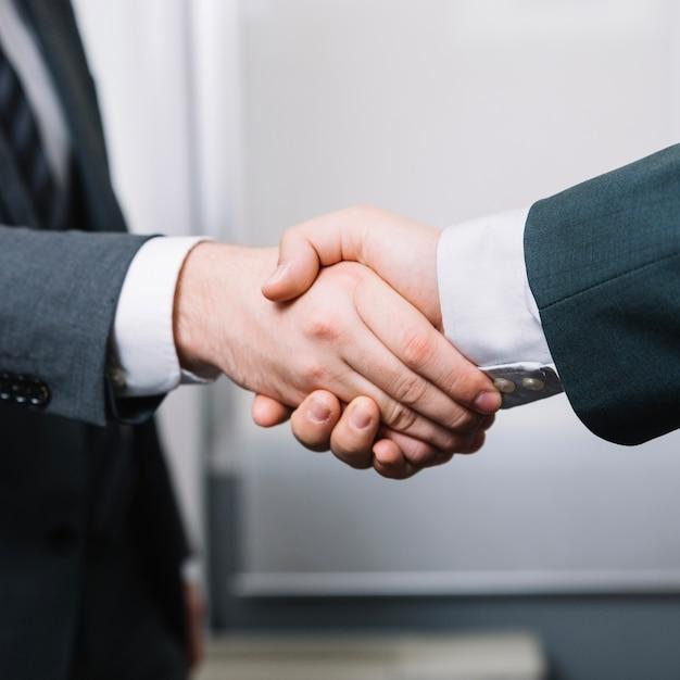 Partners mannen handen schudden Gratis Foto
