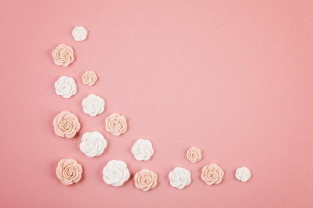 Pastel decoratieve minimale achtergrond Premium Foto