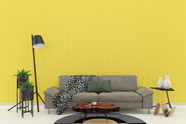 Kleurrijke Interieurs Pastel : Pastel kamer hout wand woonkamer interieur foto premium download