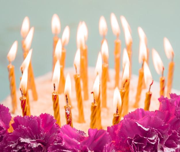 Pastelkleur verjaardagstaart Gratis Foto