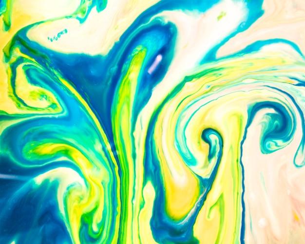 Pastelkleurig blauw en geel palet van olietextuur Gratis Foto