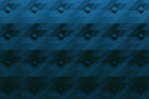 Patroon in donkerblauwe kleur met spikes en gevouwen oppervlak Premium Foto