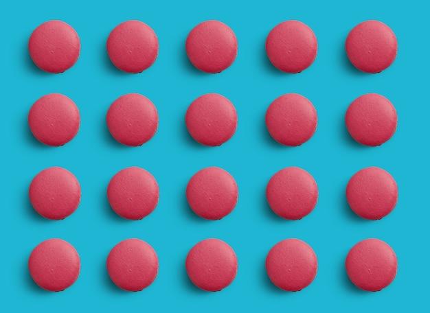 Patroon van kleurrijke franse koekjes macarons Premium Foto