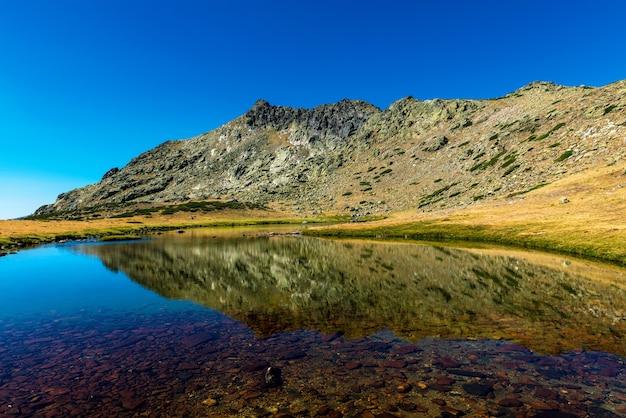Penalaras piek weerspiegeld op een gletsjermeer Premium Foto