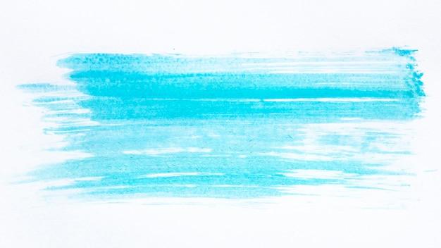 Penseelstreek blauwe verf Premium Foto