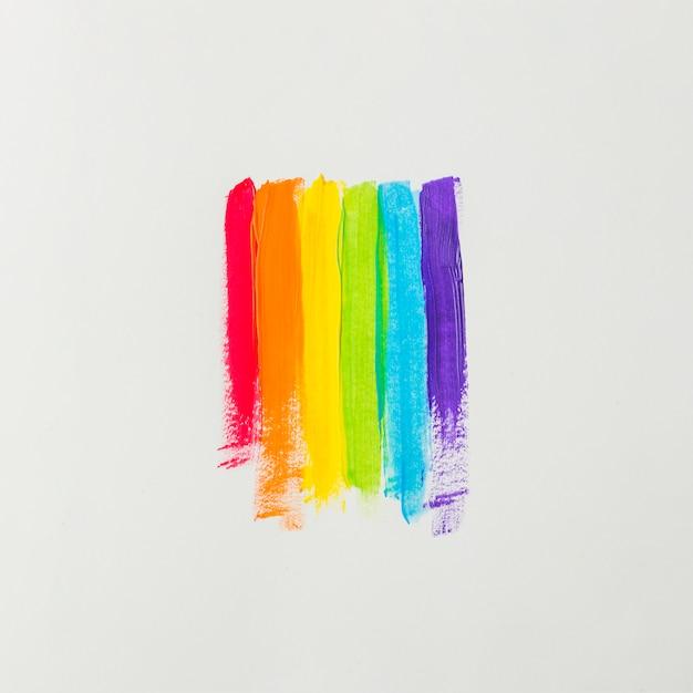 Penseelstreken in kleuren van lgbt Gratis Foto