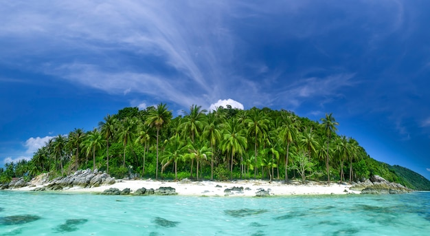 Perfecte resort achtergrond Premium Foto