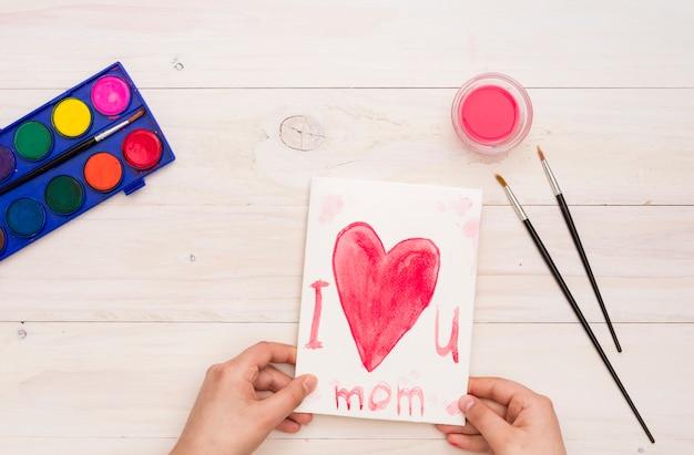 Persoon die ik hou van je moeder inscriptie Gratis Foto