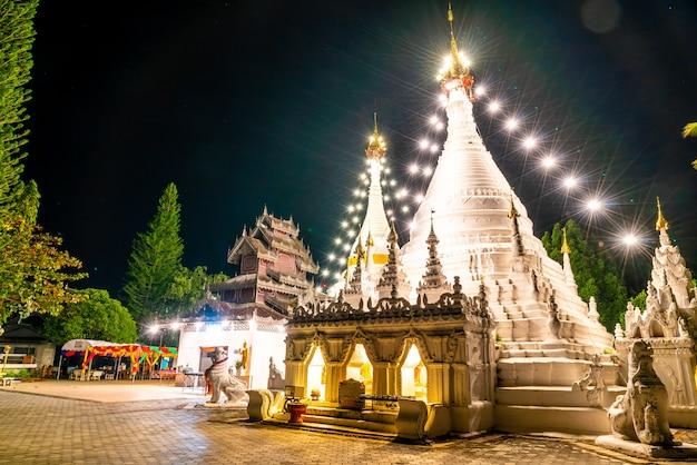 Phra that doi kong mu-tempel in mae hong son Premium Foto