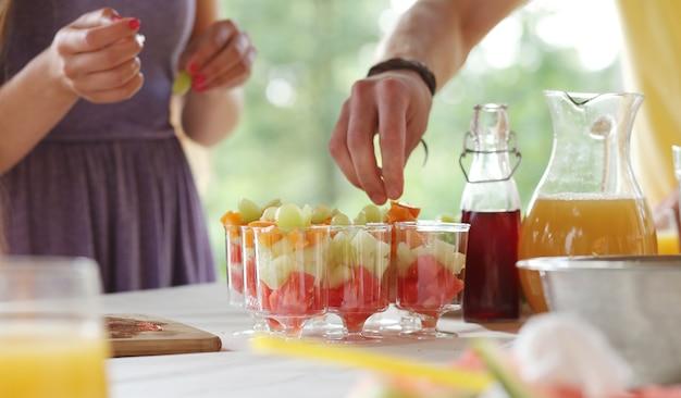 Picknick eten en drinken Gratis Foto