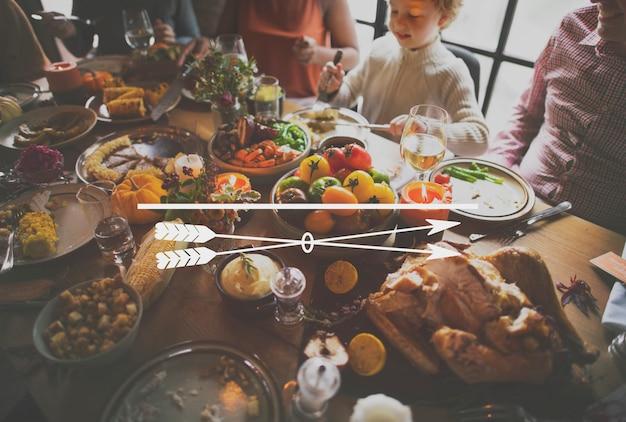Pictogram thanksgiving familiediner feest Gratis Foto
