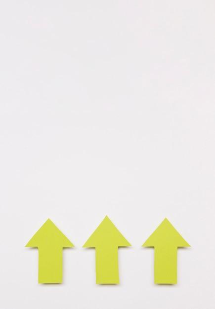 Pijlen voor kopieerruimte uitgelijnd Gratis Foto