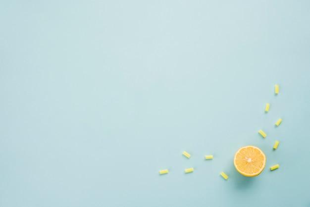 Plakje rijpe citrus en gelei Gratis Foto