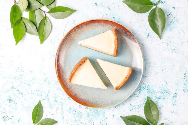 Plakjes zelfgemaakte new york cheesecake Gratis Foto