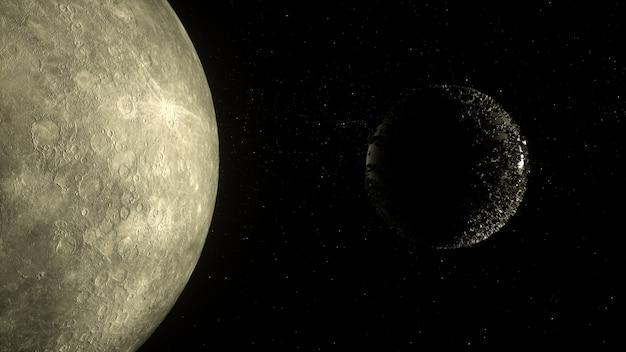Planeet in diepe ruimte Premium Foto